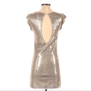 Alice + Olivia Cocktail Gold sequined Dress sz. S